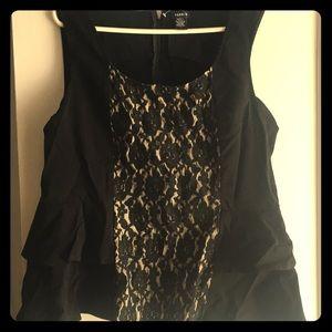 Black Torrid Front Lace Peplum Top | Size 3